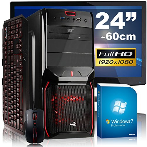 Extreme Gaming PC-Komplettpaket AGANDO fuego 4728i7 avenger | Intel Core i7 4790 4x 3.6GHz | 16GB RAM | AMD Radeon R9 285 2GB | 2000GB HDD | DVD-RW | Gigabit-LAN | 7.1 Sound | Win7Pro | 60cm (24