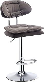 HZY-Barstool Cuban Bar Stools,Backrest, Leatherette Exterior, Adjustable Swivel Gas Lift, Iron Art Footrest Base for Break...