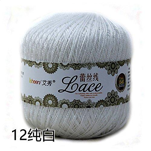 Fairy shop Hilo Crochet Puntilla Puntilla De Hilo De Algodón Hilado De Algodón De Verano Hilados Finos Hilos De Tejer De Mano,Blanco 212: Amazon.es: Hogar