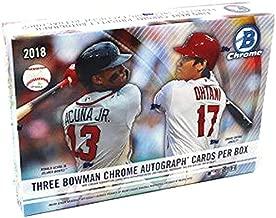 2018 Bowman Chrome HTA Choice MLB Baseball box (THREE encased Autograph cards)