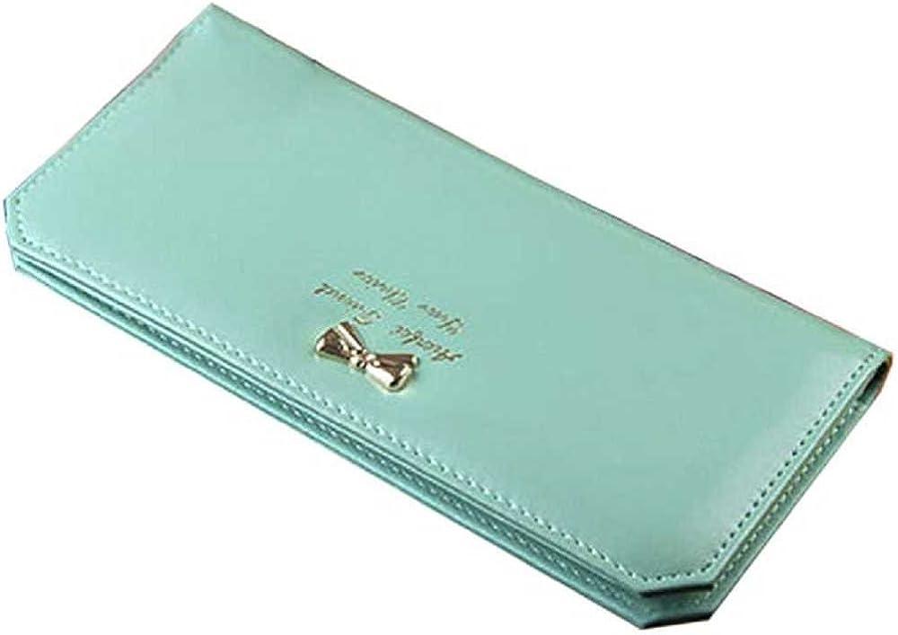 Fittingran portafogli porta carte di credito per donna in pelle sintetica 323615B