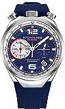 Stuhrling Original - Montre chronographe à Quartz Bullhead pour Hommes - Collection de Montres pour Hommes à Bracelet en Acier et Bracelet en Caoutchouc (Blue)