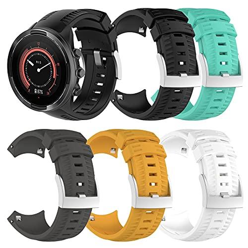 ZLK Adecuado para Suunto 9 Baro, Correa de Reloj de Deportes GPS, Banda de Reloj Deportiva al Aire Libre, Disponible en Cinco Colores (Watch no Incluyen) (Color : Negro)