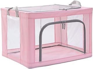 Boîtes de rangement claires for la fenêtre, contenants pliables for les bacs à vêtements, panier de rangement empilable en...