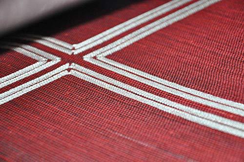 ACCEY Luxus Silber metallic grau Sisal Tapete für Hauptdekoration Büro Wand hotal Wandverkleidung @ Red