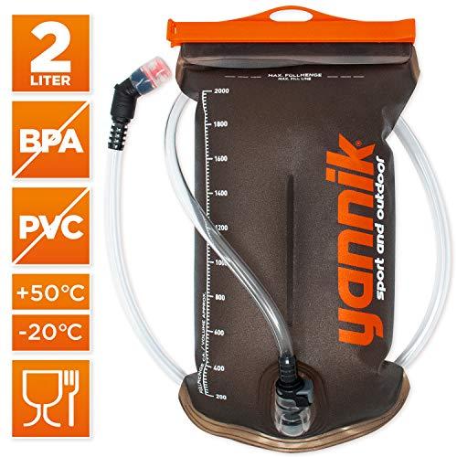YANNIK Trinksystem 2L mit Beissventil   TPU Wasserblase   BPA-frei Trinkblase Trinkbeutel Auslaufsicher Antibakteriell Trinkrucksack