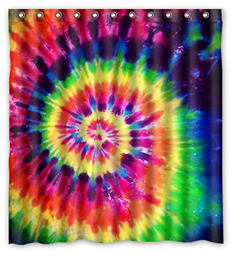 ZHANZZK Colorful Tie Dye Waterproof Bathroom Shower Curtain 66x72 Inches