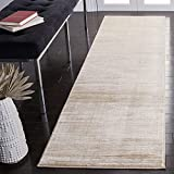 Safavieh Vision Collection VSN606F Modern Ombre Tonal Chic Non-Shedding Stain Resistant Living Room Bedroom Runner, 2'2' x 20' , Cream