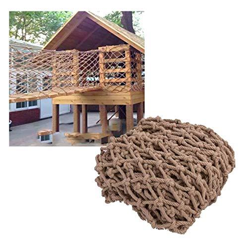 shh Red de cuerda para escalar, resistente, para niños, balcón, barandilla, protección para escaleras, vallas, decoración de jardín, árboles, casas, columpios, escaleras, malla (tamaño : 1 x 7 m)