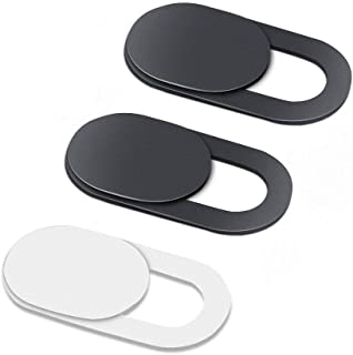 Camera Cover Slide, Webcam Cover Slider, Smartphone Webcam Sticker, Laptop Camera Cover (3 Pack (2 Black+1 White))