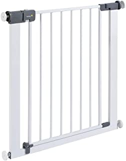 Safety 1st - Rejilla para Escaleras, Cierre Rápido, Extraseguro, Rejilla Metálica para Sujeción, 73-80 cm, Posibilidad de ...