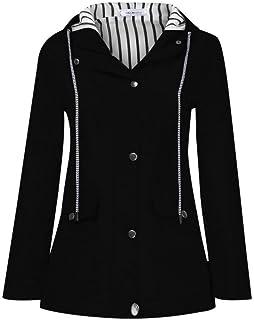 BOLAWOO-77 Chaqueta De Lluvia Tallas Tallas Mujer para Sudadera con Mode De Marca Capucha para Mujer Impermeable con Capuc...