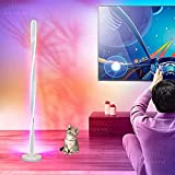 SFSGH Lámpara de pie LED Moderna para Sala de Estar, Control Remoto Regulable, luz de Piso de Esquina, Cambio de Color, Suave, cálida, Blanca, lámpara de Lectura de pie Junto a la Cama p