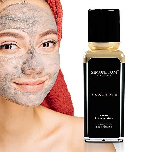 Simon & Tom PRO SKIN - HYDRATION - Reinigend en hydraterend gezichtsmasker, zuivert de huid en voorkomt rimpels, met zwarte houtskool en aminozuren, 30 ml