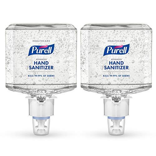 PURELL Healthcare Advanced Hand Sanitizer Gel, Citrus Scent, 1200 mL Hand Sanitizer Refill for PURELL ES4 Push-Style Hand Sanitizer Dispenser (Pack of 2) - 5063-02