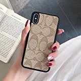 "iPhone XR case,Stylish Luxury Ultra-Thin Classic Pattern Cellphone case,Anti-Fall Shockproof Case Protective Cover for Apple iPhone XR 6.1"",Khaki"