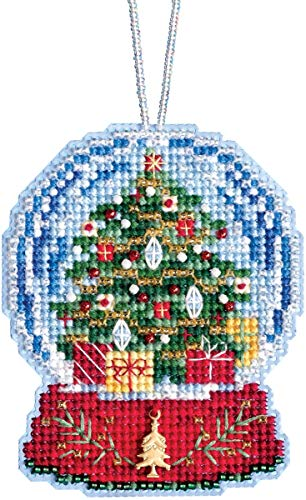 Mill Hill Christmas Tree Snow Globe Beaded Counted Cross Stitch Charmed Ornament Kit 2019 Snow Globes MH161936