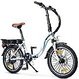 BLUEWHEEL e-Bike 20' Plegable I Marca Alemana de Calidad I Cambios Shimano 7 velocidades I Bicicleta eléctrica Conforme UE con App + Motor de 250 W + Batería Extraíble | 25 km/h hasta 150 km | BXB55