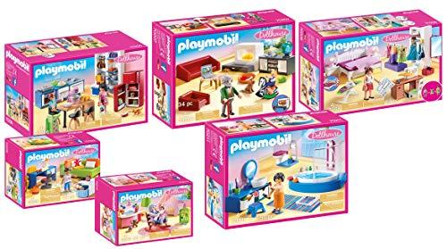 PLAYMOBIL 6-teiliges Möbelset für 70205 Puppenhaus oder auch für 9266 Modernes Wohnaus: 70206 70207 70208 70209 70210 70211