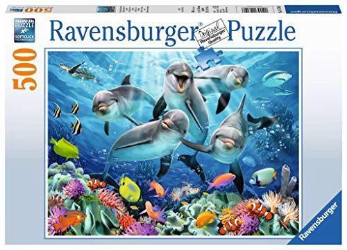 Ravensburger Italy- Puzzle Delfini, 500 Pezzi, 14709