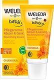 WELEDA Baby Calendula Pflegecreme, Naturkosmetik Körper und Gesicht Creme zur Pflege und Beruhigung trockener Haut. Reichhaltige Feuchtigkeitscreme für Babys und Kinder (1 x 30ml)