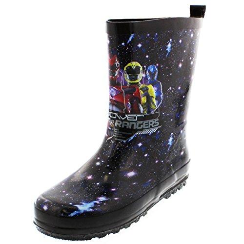 Power Rangers Boys Rain Boots (2-3 M US Little Kid, Power Rangers Black)