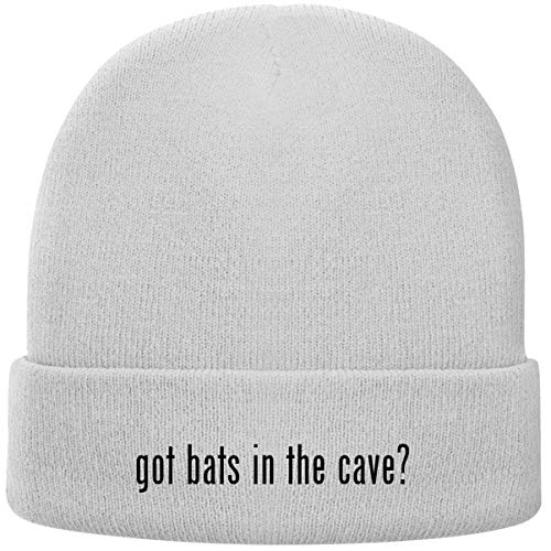 got Bats in The cave? - Soft Adult Beanie Cap, White