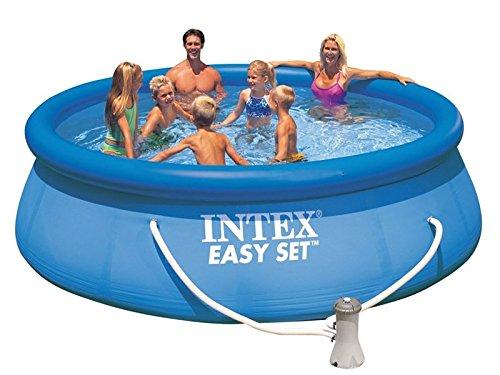 INTEX Aufblasbarer Pool Easy Pool Set 457 x 122 cm + Filterpumpe für den Garten