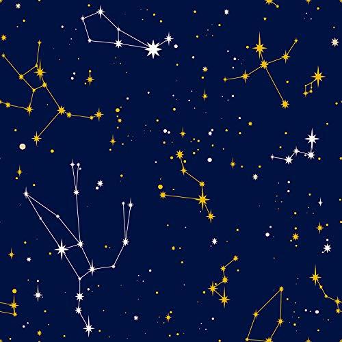 Funwaltiles Selbstklebende Tapete, Motiv Galaxie 15.7 * 198