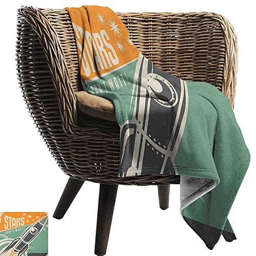 ZSUO kat deken Vintage, Segway Elektrische Scooter Icoon op Voorgrond van Pop Art Stijl Streep Urban Transport,Multi kleuren Gezellige en Duurzame Stof-Machine Wasbaar