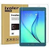 ivoler Panzerglas Schutzfolie Kompatibel für Samsung Galaxy Tab A 9.7 Zoll (T550 / T555), 9H Festigkeit, Anti- Kratzer, Bläschenfrei, 2.5D R&e Kante