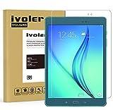 ivoler Protector de Pantalla para Samsung Galaxy Tab A 9.7 Pulgadas (T550 / T555), Cristal Vidrio Templado Premium [Dureza 9H] [Anti-Arañazos] [Sin Burbujas]