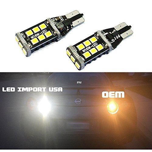 LED import USA 800 lumens really Bright Error Free 921 912 LX Chipsets LED Bulbs For Backup Reverse Lights, 6000K white