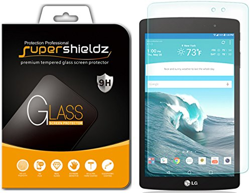 Supershieldz for LG G Pad X8.3 (G Pad X 8.3) Tempered Glass Screen Protector, Anti Scratch, Bubble Free