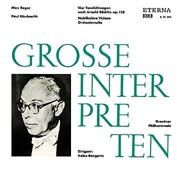 Reger: Vier Tondichtungen nach Arnold Böcklin - Hindemith: Nobilissima Visione
