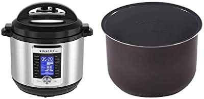 Instant Pot Ultra 10-in-1 Electric Pressure Cooker, 8 Quart, 16 One-Touch Programs & Ceramic Non Stick Interior Coated Inner Cooking Pot 8 Quart