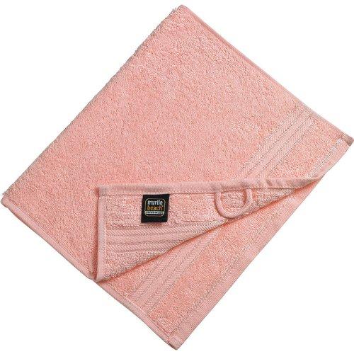 Myrtle Beach - lot 3 serviettes de toilette invité - rose clair - 30 x 50 cm - MB420