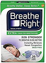 Breathe Right Extra Strength Clear Drug-Free Nasal Strips for Congestion Relief - 1 Count