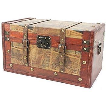 in legno motivo: Portogallo HMF 6406700 Set di 3 cassette per tesori idea regalo