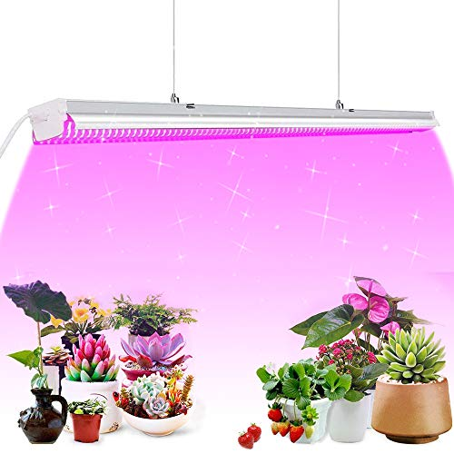 SHOPLED Grow Light, Full Spectrum 4ft 64W Led Grow Lights for Indoor Plants, Best Indoor Greenhouse Kit Grow Light Fixtures with Reflector for Seed Starting, Herb, Succulents, Veg and Flower