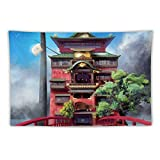 Glasses Tapestry Wall Hanging Hayao-Miyazaki Tapestry My Neighbor Toto-ro Spirited-Away Anime Tapestry for Home Living Room Bedroom Dorm Decoration 40'×60'