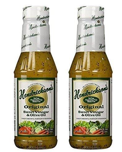 Hendricksons Dressing Original Sweet Vinegar and Olive Oil 16 fl oz (Pack of 2)
