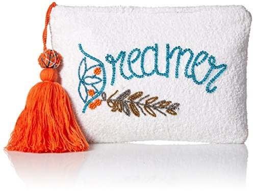 'ale by alessandra Women's Dreamer Plush Cotton Terry Cloth Clutch/Bikini Bag, white, One Size