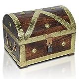 Brynnberg Caja de Madera Cofre del Tesoro Pirata de Estilo Vintage | Hecha a Mano |...