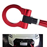 DEWHEL JDM Folding Screw On Racing T2 Tow Hooks Front Rear for 370Z Juke GT-R Infiniti G37/Q60 Coupe Red