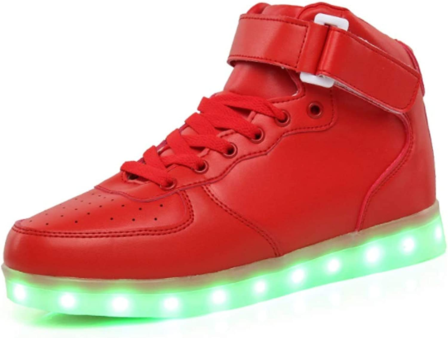 Neutral Adult High Help USB Charging LED Light shoes Fashion Sports shoes Men's Women's (color   C, Size   38EU)