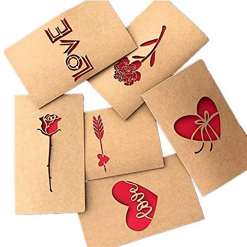BJ-SHOP Tarjeta de Felicitacion,Tarjetas de felicitacion Hechas a Mano de Bricolaje Tarjetas de Papel de Kraft en Blanco Dentro del Paquete y Sobres Multipack