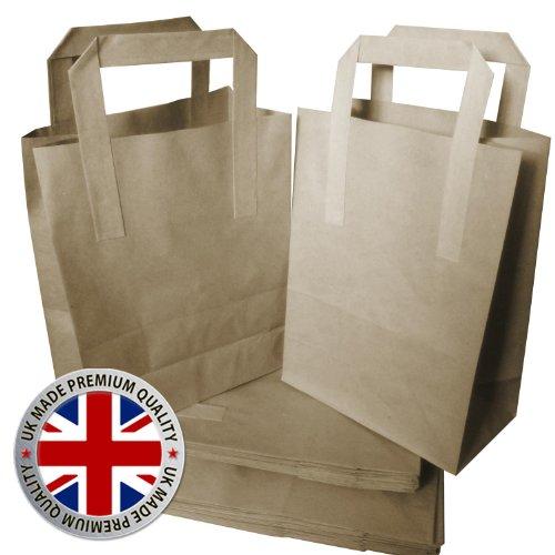 25 kleine SOS Kraft ambachtelijke bruin papier weghalen voedsel sterke draagtassen - gratis levering
