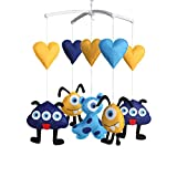 [Heart and Monster] Handmade Baby Mobile Crib Rotate Bed Bell with Music