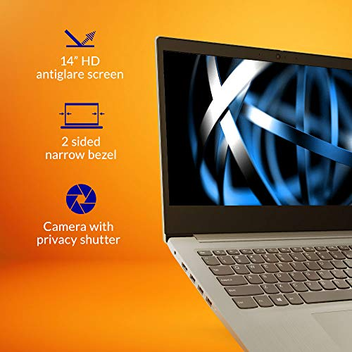 "Lenovo IdeaPad Slim 3 Intel Celeron N4020 14"" (35.36cm) HD Thin & Light Laptop (4GB/256GB SSD/Windows 10/Platinum Grey/1.5Kg), 81WH001NIN"